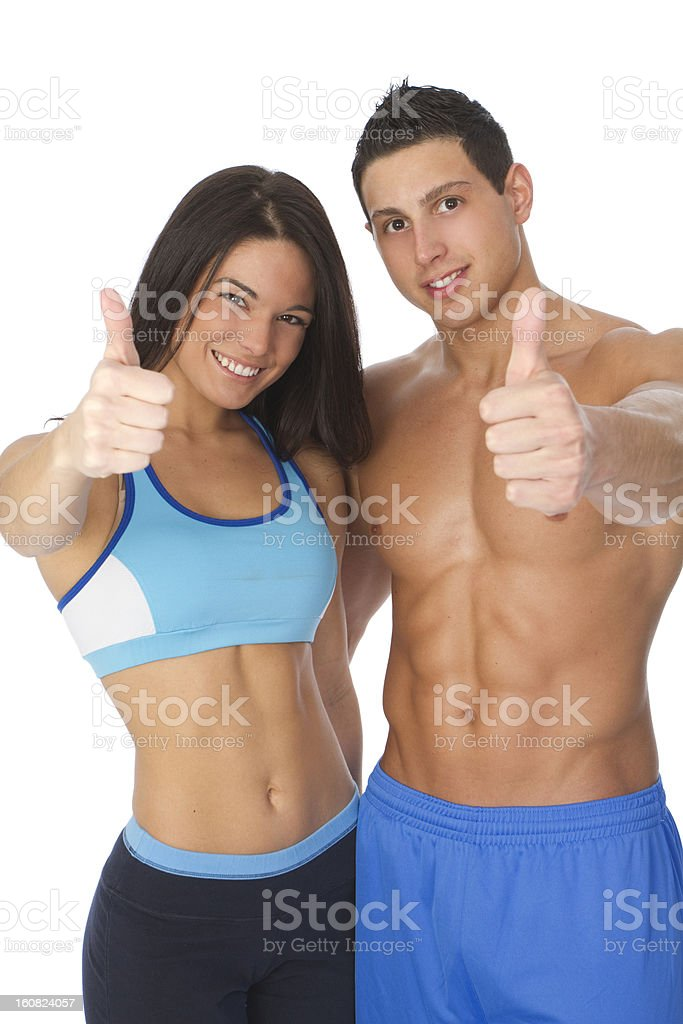 fit couple royalty-free stock photo