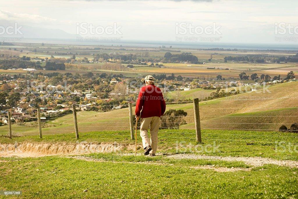 Fit Elderly Man stock photo