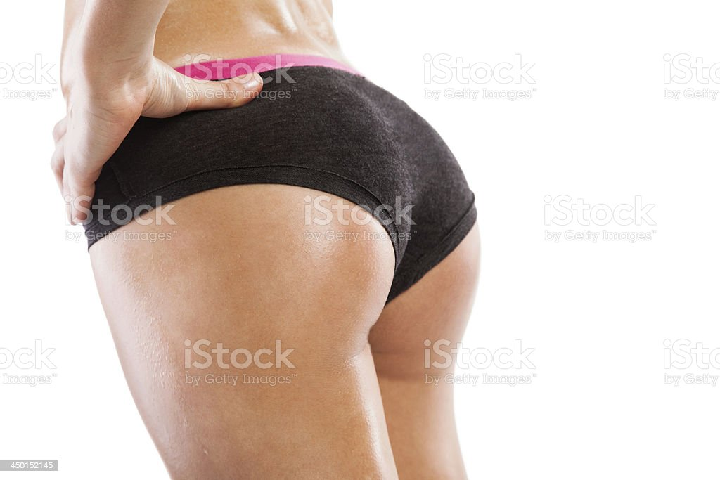 Fit female body stock photo