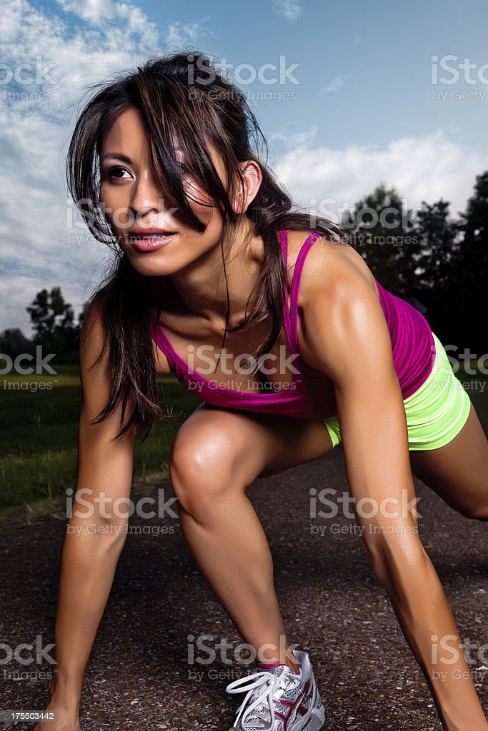 Fit Female Runner royalty-free stock photo