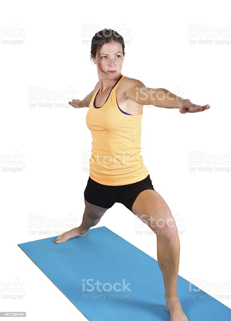 Fit Female stretching and doing yoga royalty-free stock photo