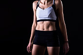 fit figure of an athletic young woman