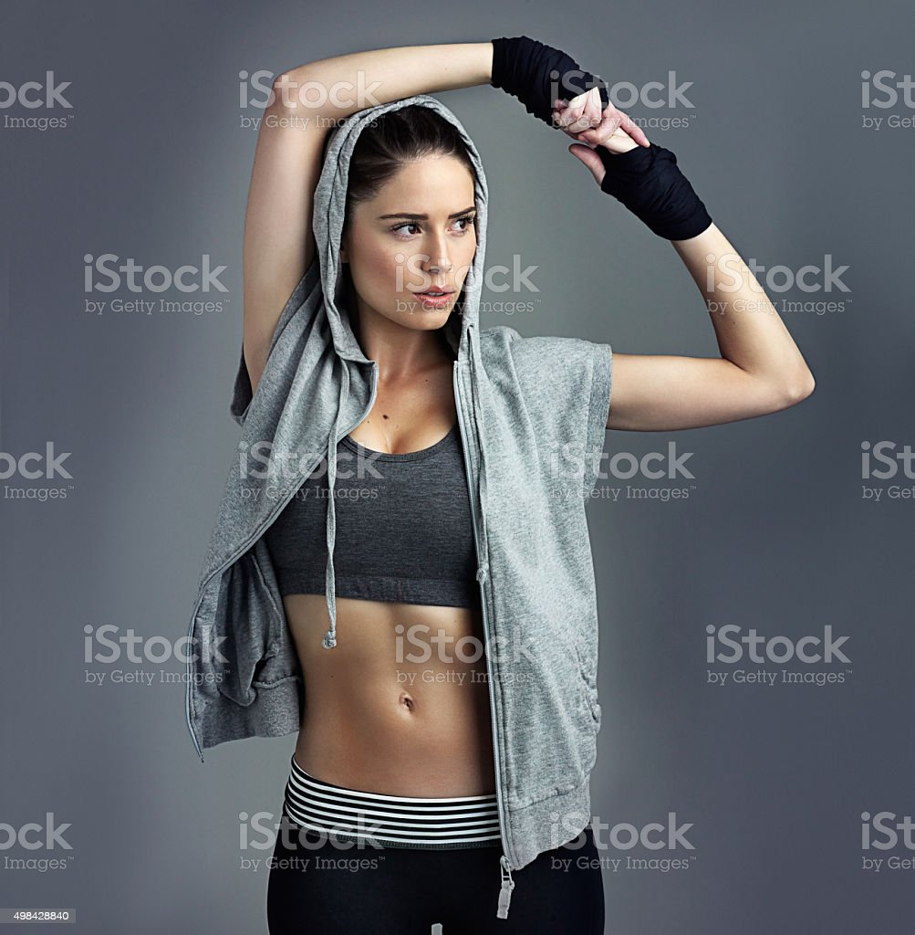 Fit is a state of mind stock photo