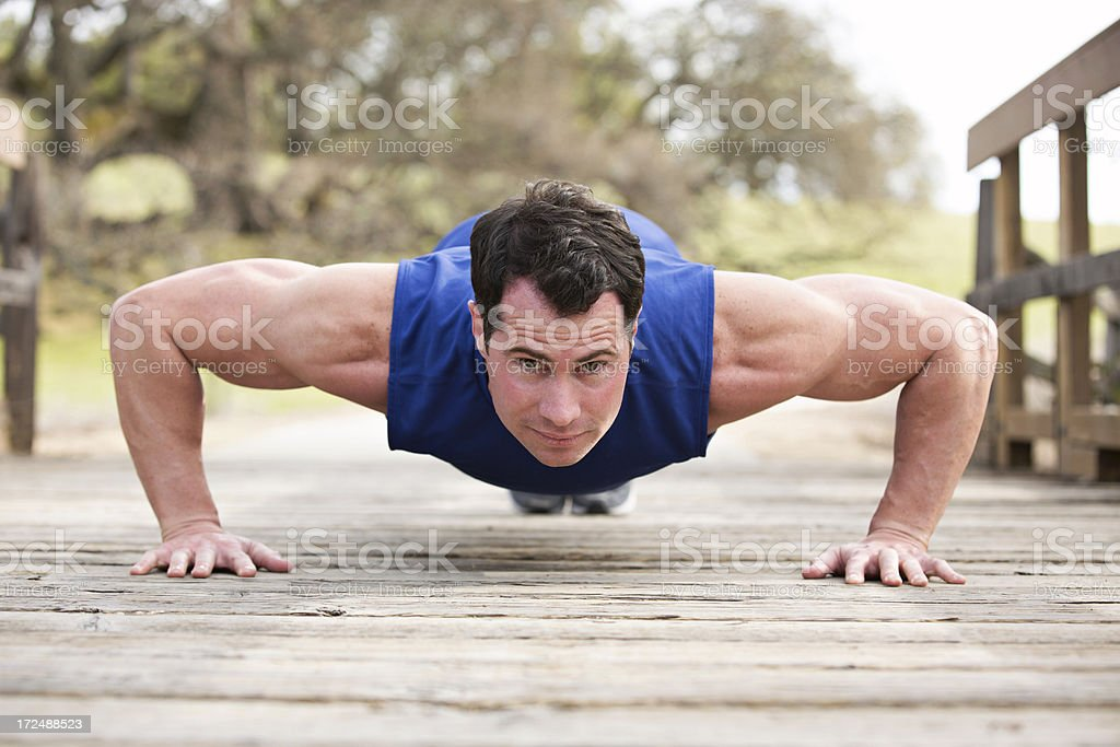 Fit Man In Pushup Position royalty-free stock photo
