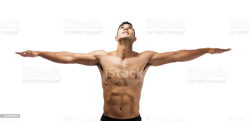 Fit man royalty-free stock photo