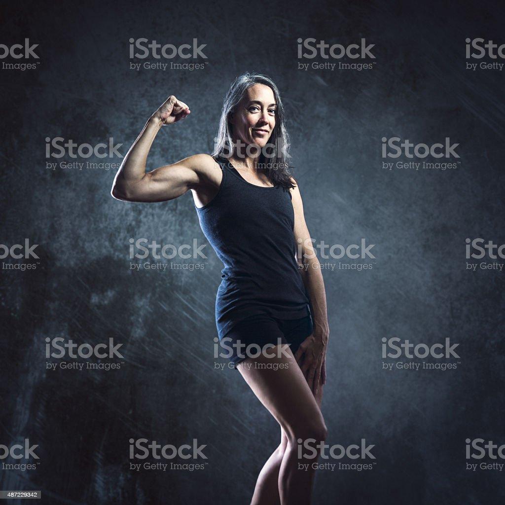 Fit Mature Athelete Woman stock photo