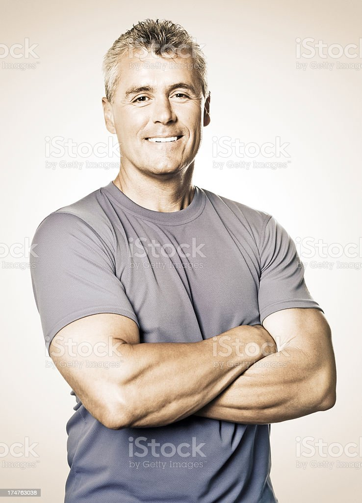 Fit Mature Man (Isolated) royalty-free stock photo