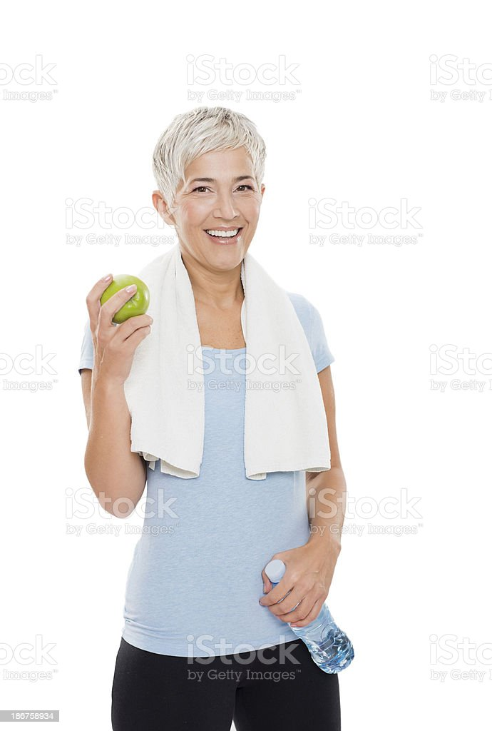 Fit mature woman royalty-free stock photo