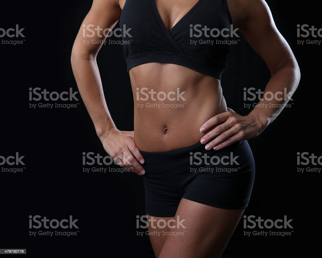fit muscular torso stock photo