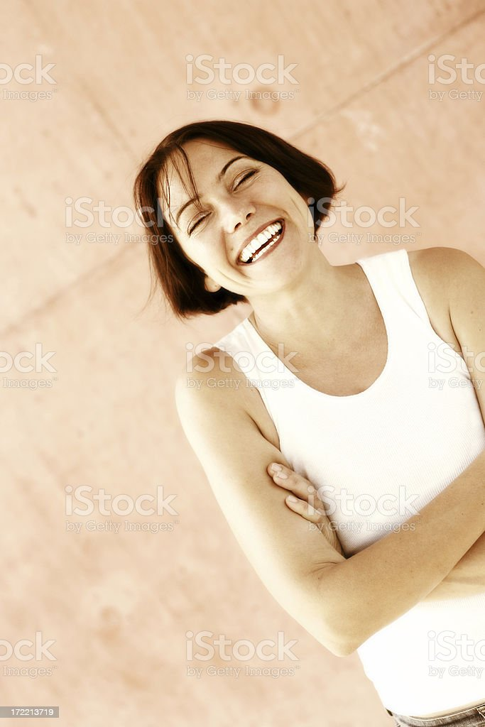 Fit of the Giggles stock photo