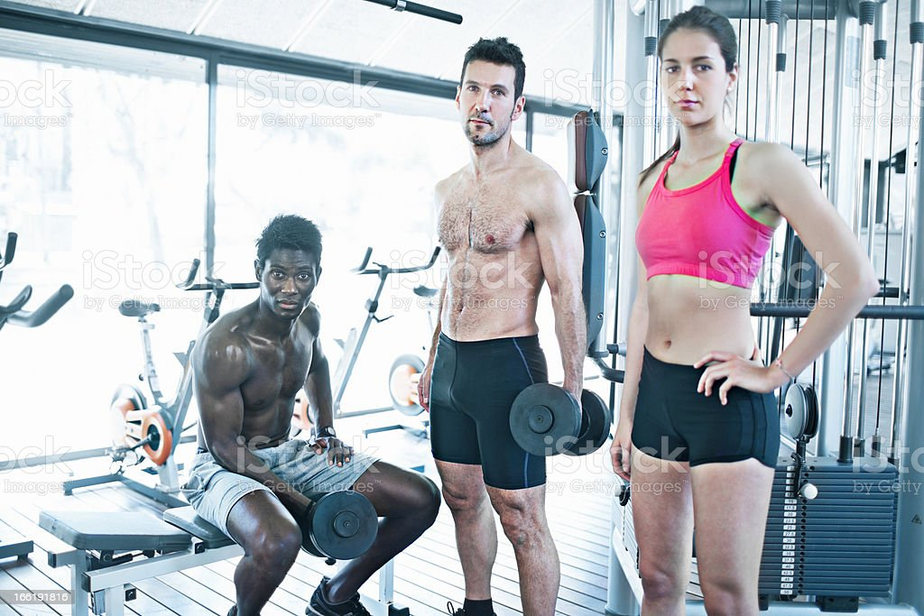 Fit people royalty-free stock photo
