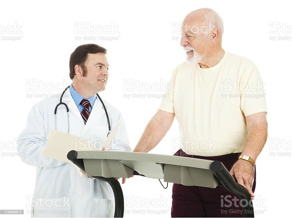 Fit Senior Man Consults Doctor royalty-free stock photo