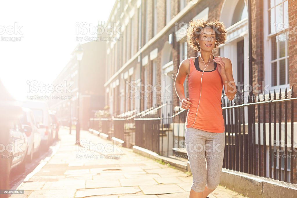 fit start to the day stock photo