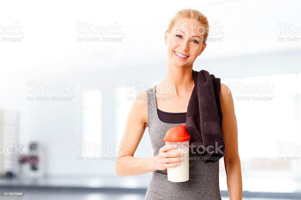 Fit woman stock photo