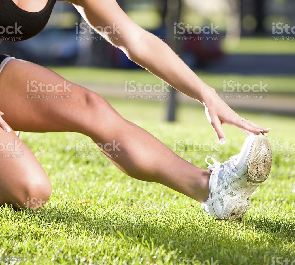 Fit Woman Stretching royalty-free stock photo
