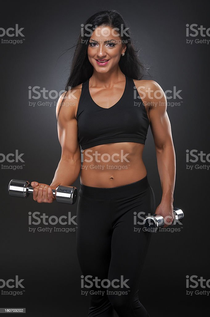 Fit Women Exercise royalty-free stock photo