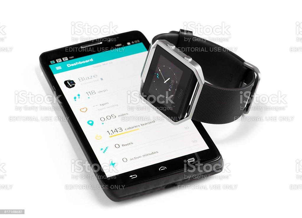 Fitbit Blaze Smart Watch stock photo