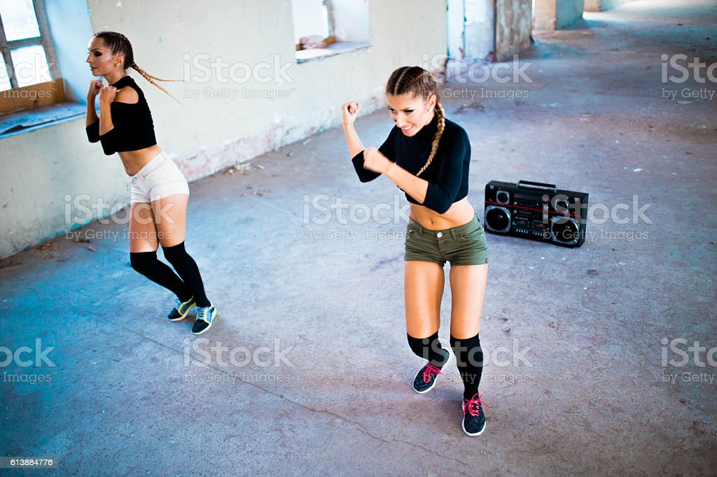 Fitness and dancing stock photo