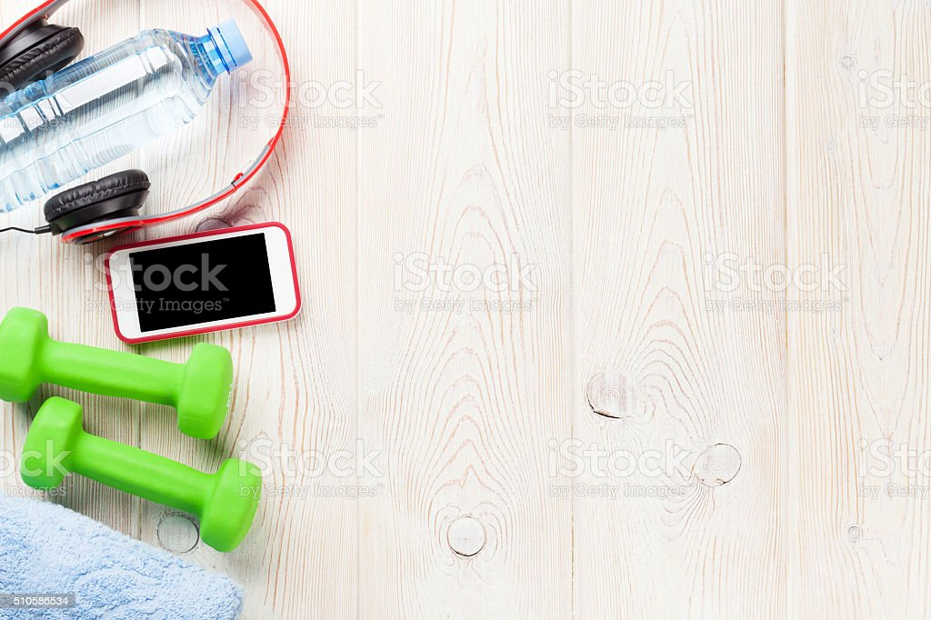 Fitness and diet concept background stock photo