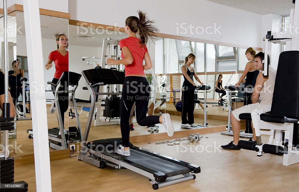 Fitness and exercising royalty-free stock photo