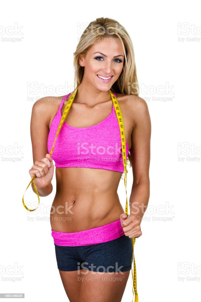 Fitness and weight loss concept royalty-free stock photo