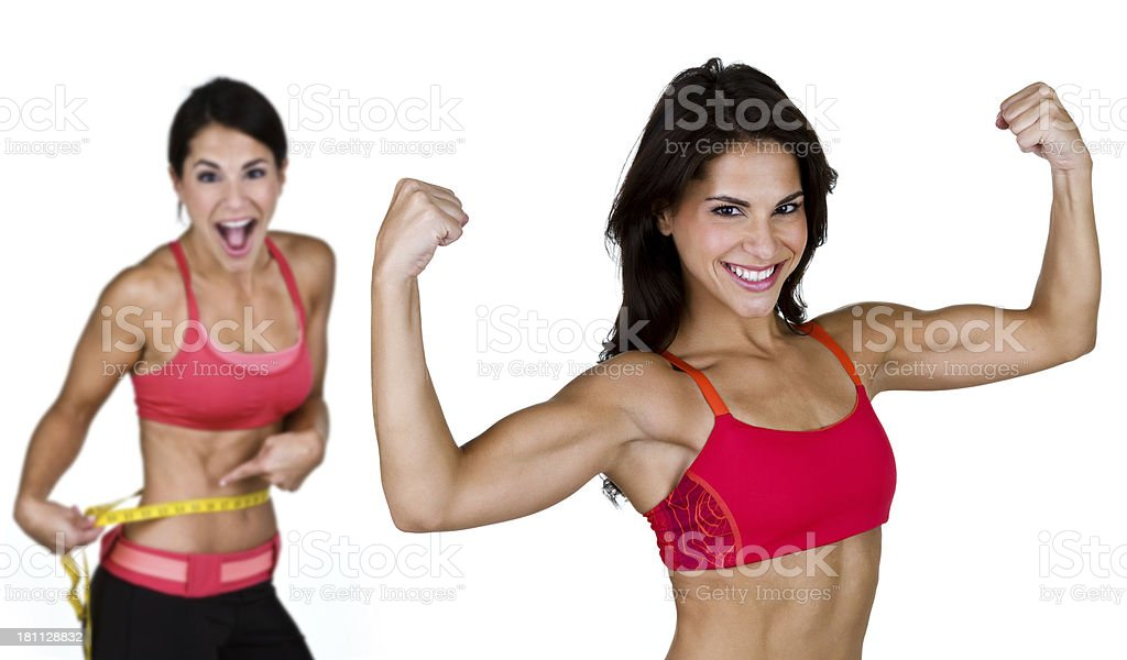Fitness and weight loss royalty-free stock photo