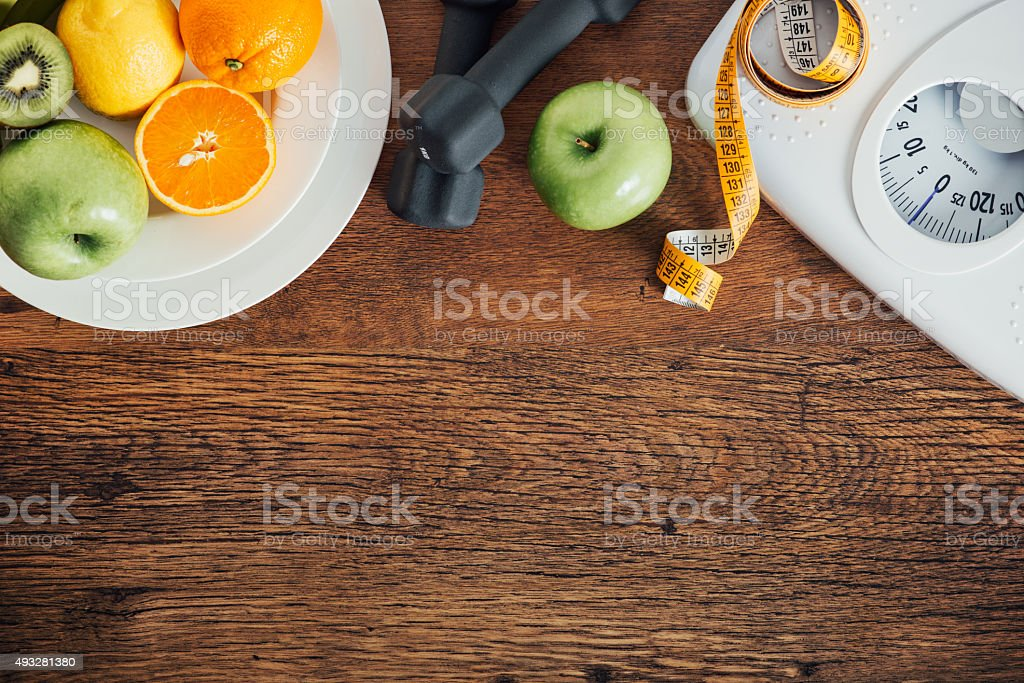 Fitness and weight loss stock photo