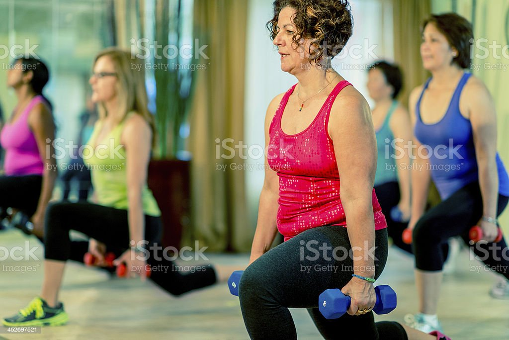Fitness and Wieght Loss Bootcamp Class stock photo