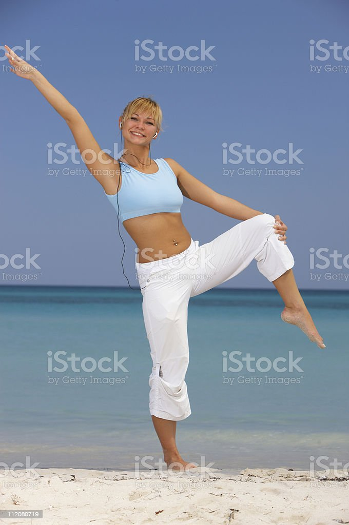 Fitness at Caribbean stock photo