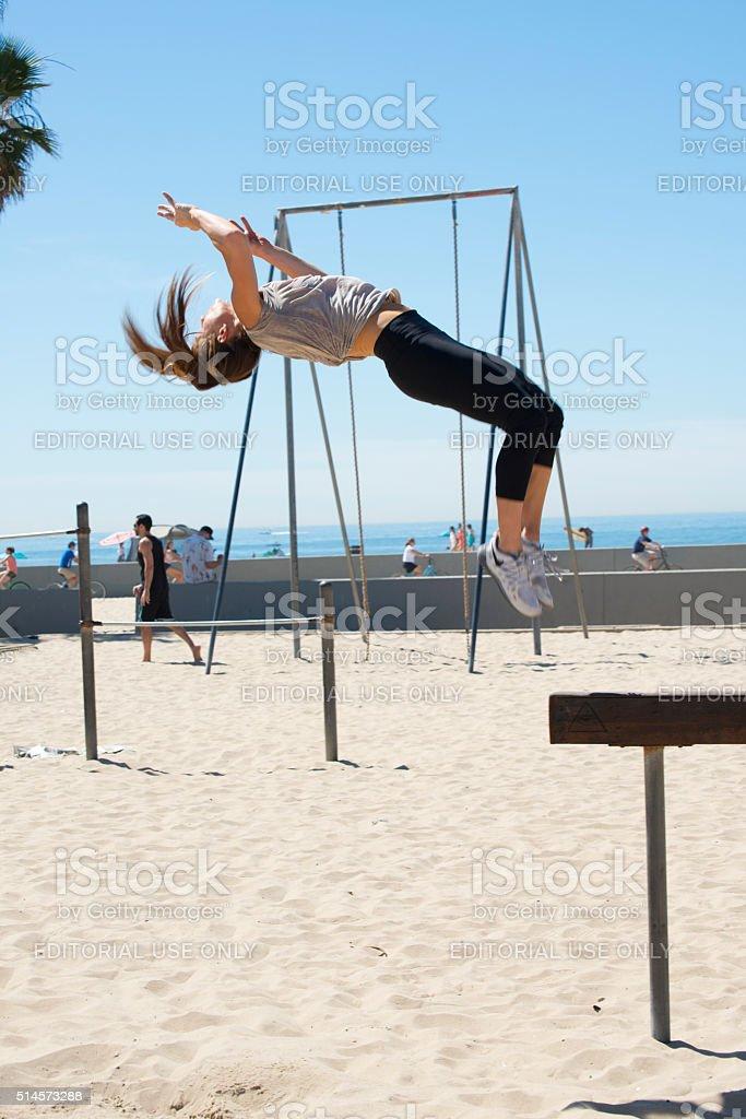 Fitness at Venice Beach, California stock photo
