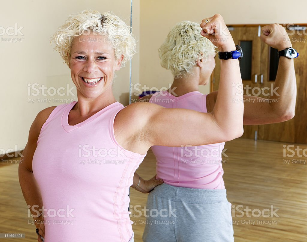 fitness: athletic build royalty-free stock photo