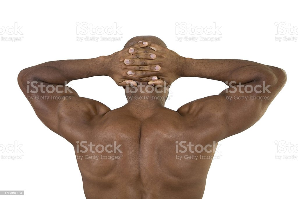 Fitness, Back, Arms Up stock photo