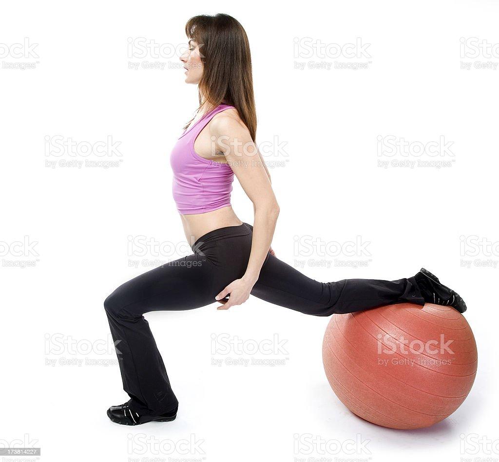 Fitness ball royalty-free stock photo