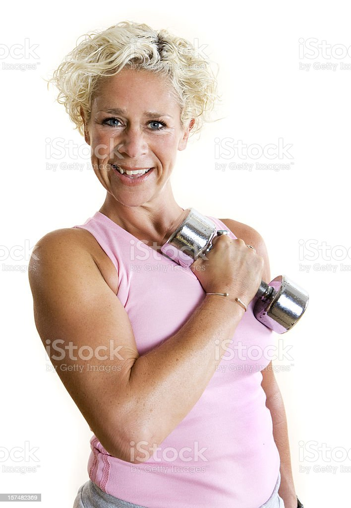 fitness: bicep curl royalty-free stock photo