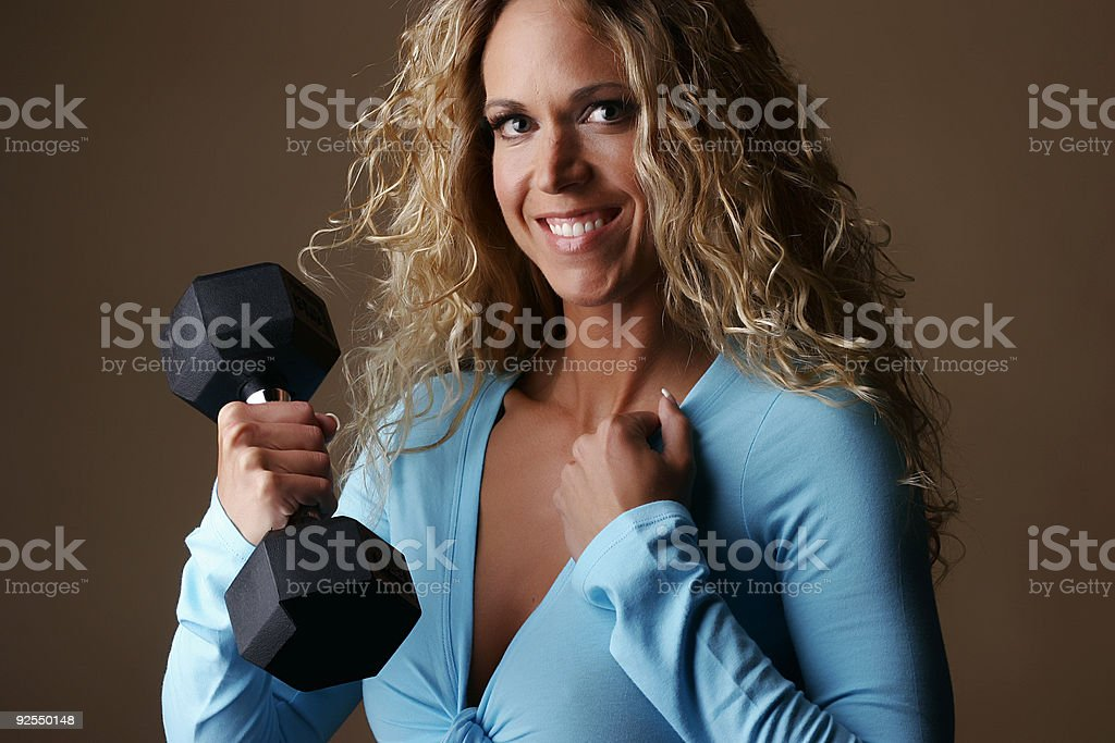Fitness blond royalty-free stock photo