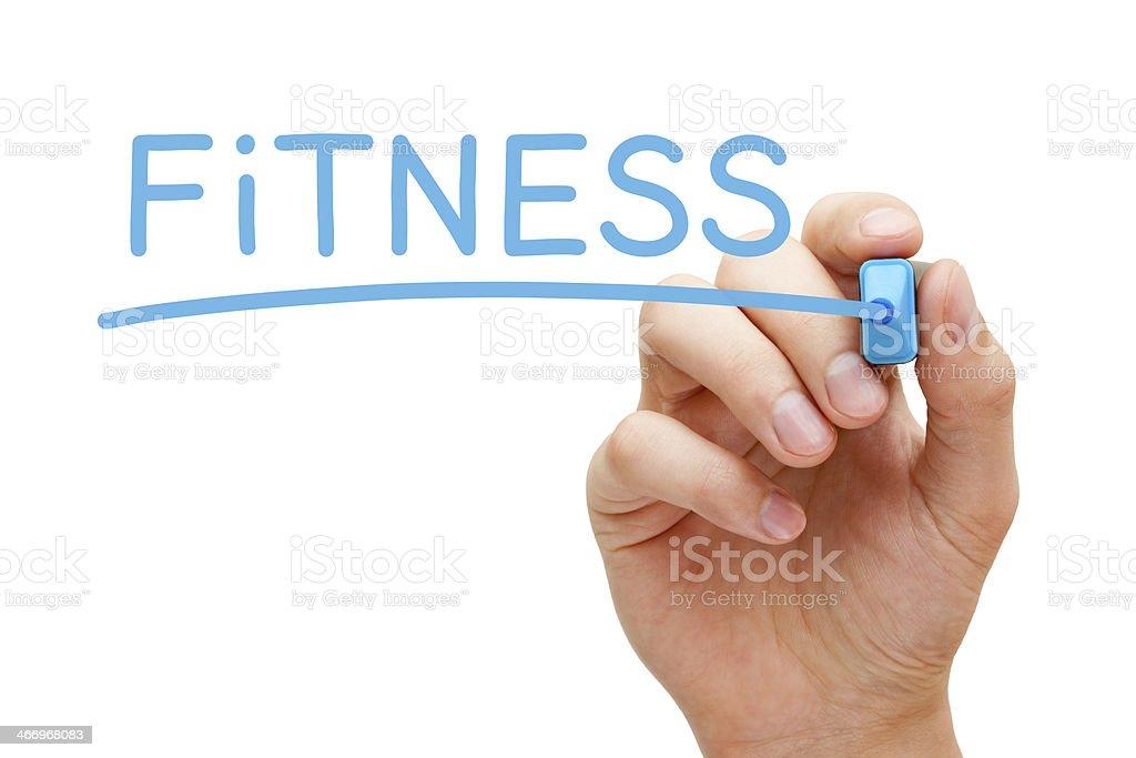 Fitness Blue Marker royalty-free stock photo