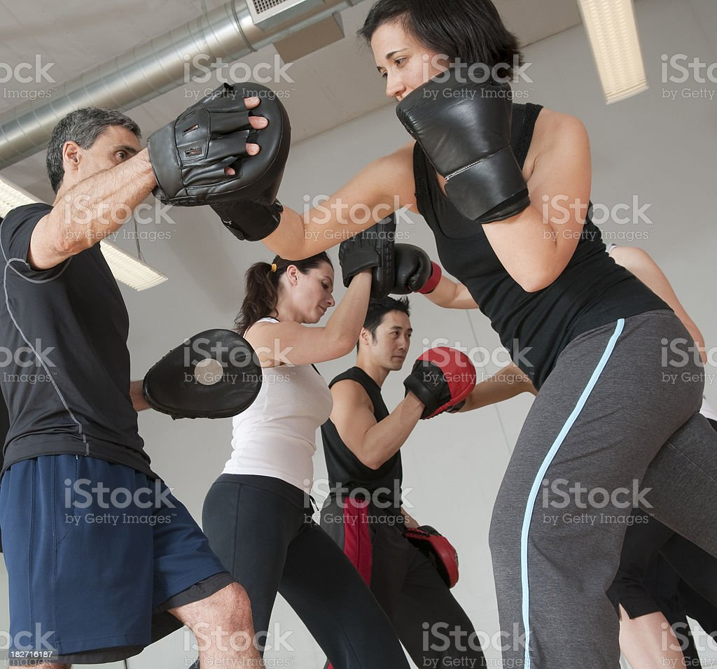 Fitness Boxing Class royalty-free stock photo