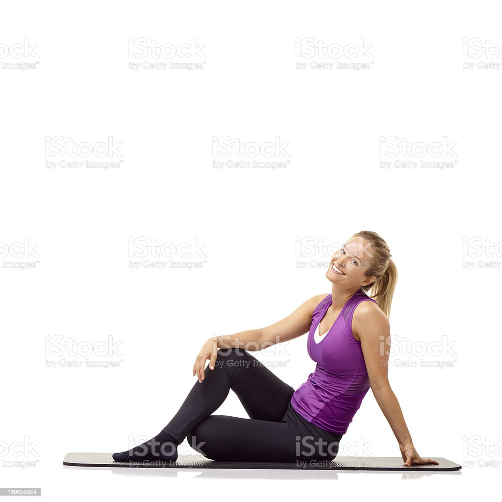 Fitness brings a smile to her face! royalty-free stock photo