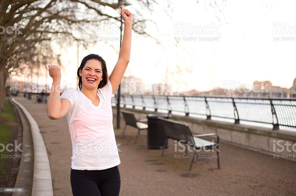 fitness celebration royalty-free stock photo