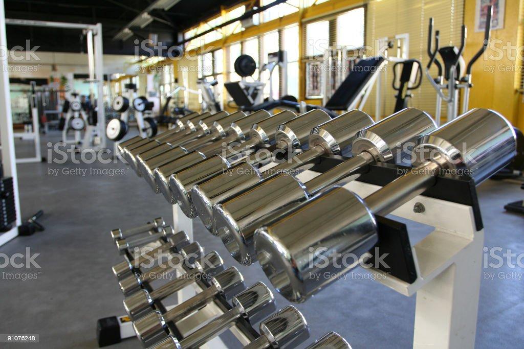 Fitness center stock photo