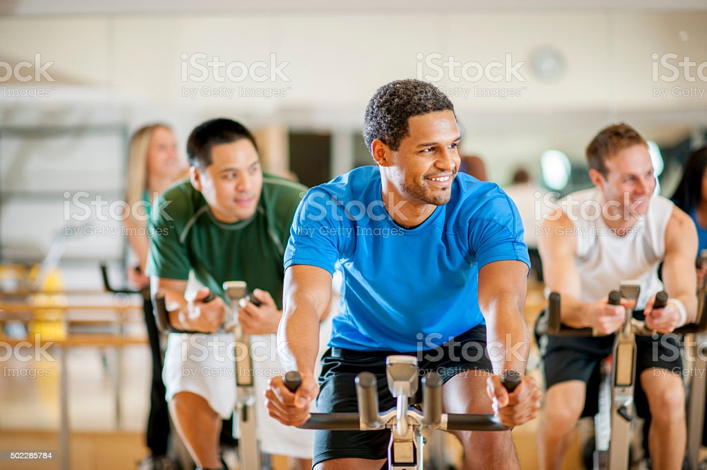 Fitness Class at the Gym stock photo