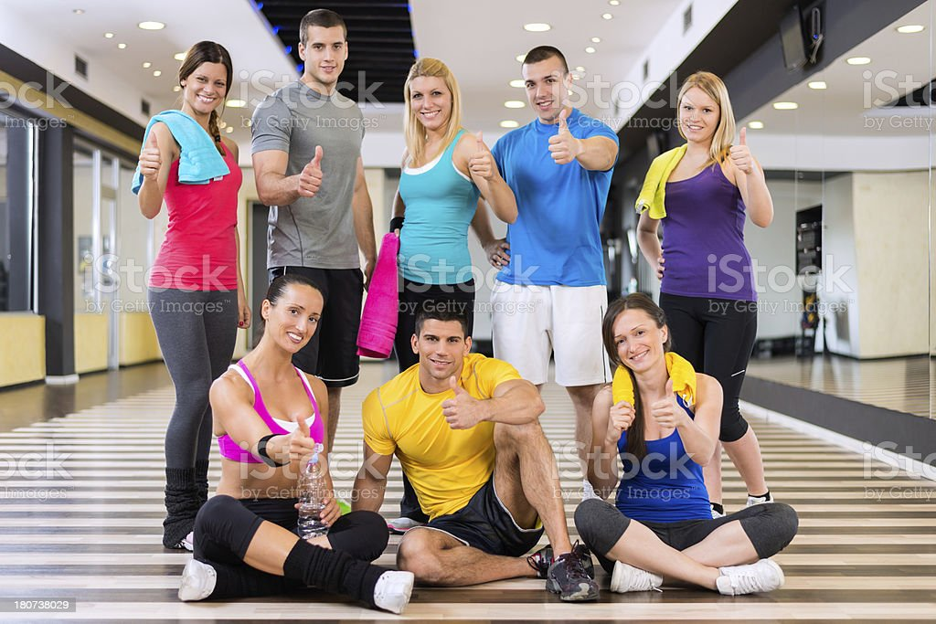 Fitness class mates royalty-free stock photo