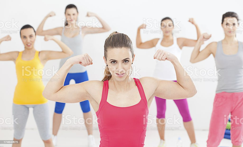 Fitness Class royalty-free stock photo
