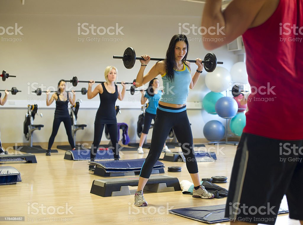 fitness class stock photo