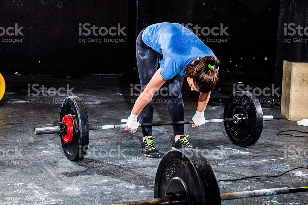 Fitness 'clean' exercise stock photo