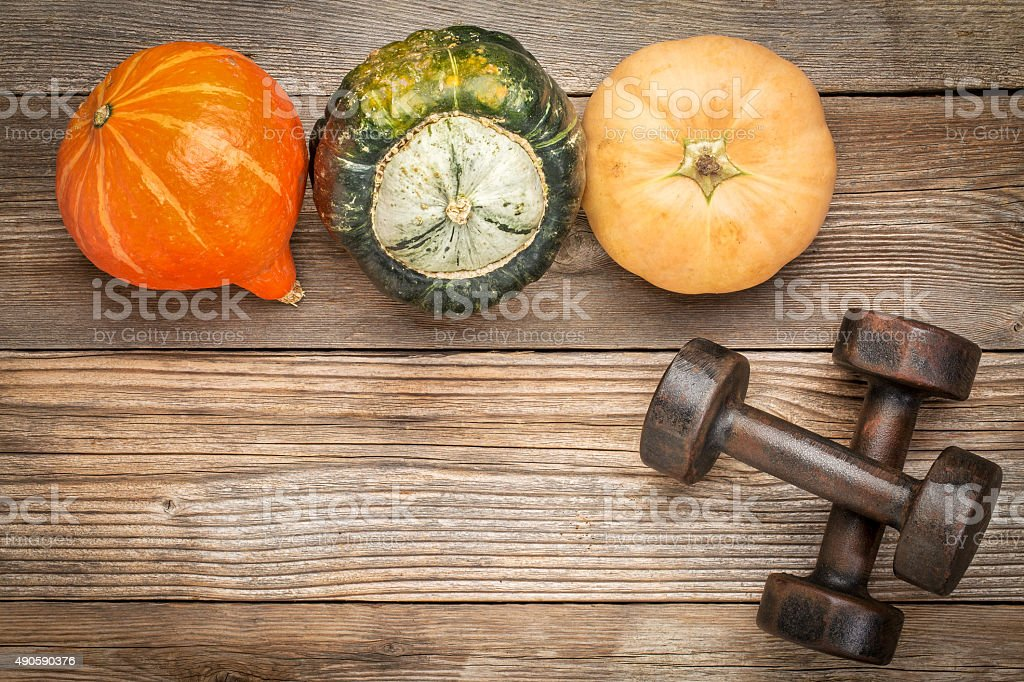 fitness concept with fall theme stock photo