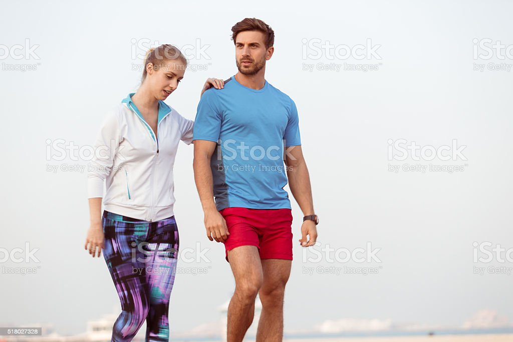Fitness Couple Exercising Together stock photo