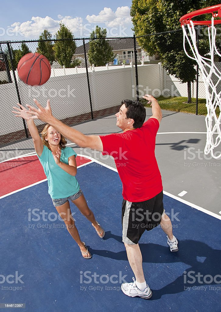 Fitness Court Basket Ball stock photo