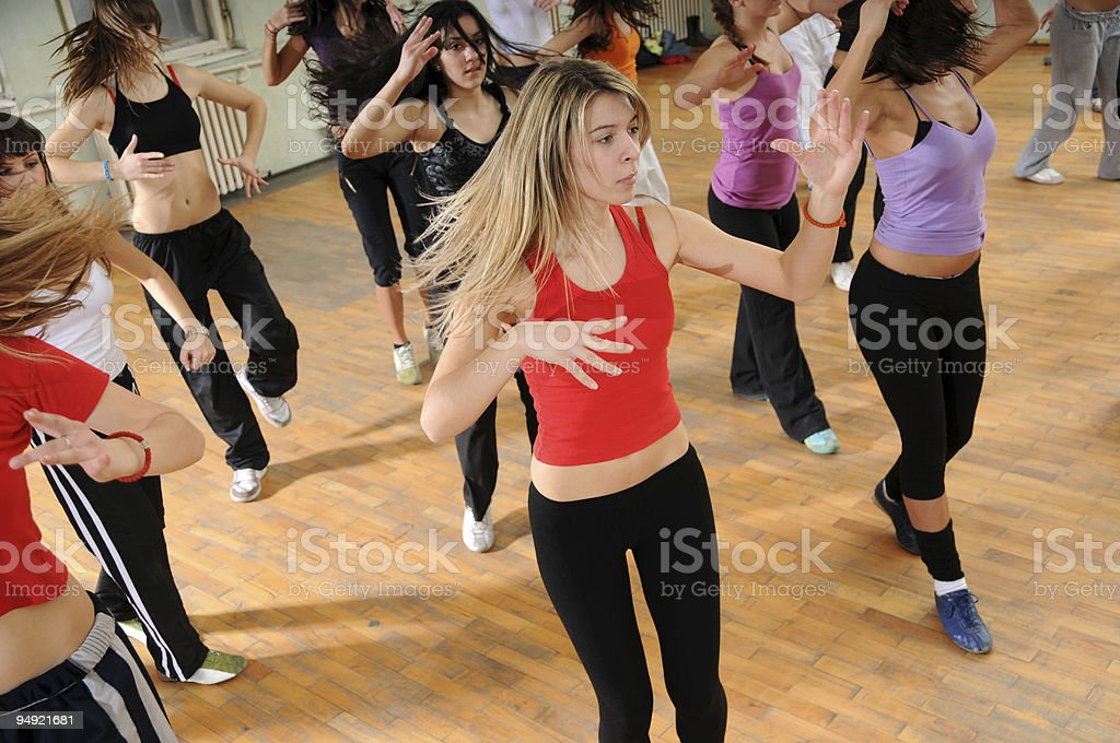 Fitness dance royalty-free stock photo
