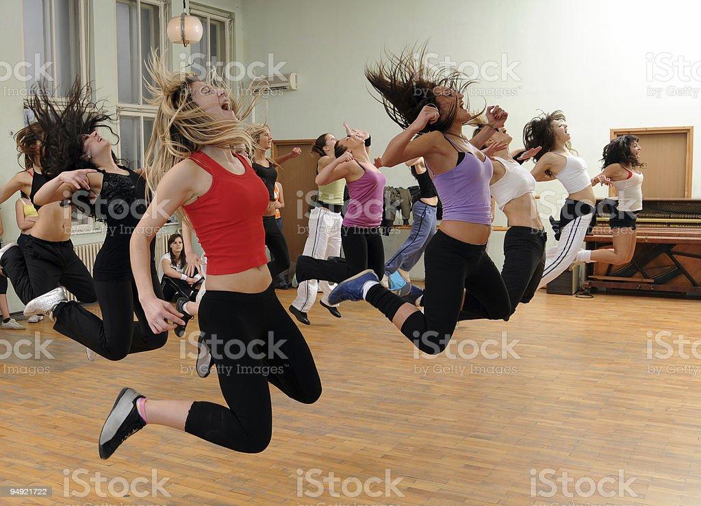 Fitness dance stock photo